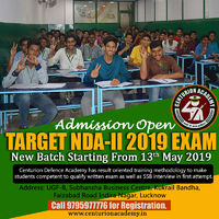 Admission Open for NDA. New Batch Starting from 20th May 2019.