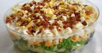 7 layer salad with bacon and peas