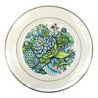 Peaceful Flower Garden Porcelain Display Plate from CowCow.com