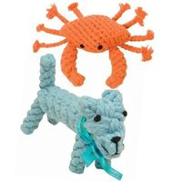 I pinned this 2 Piece Dog & Crab Rope Toy Set from the Jax & Bones event at Joss and Main!$17.95