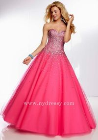 Mori Lee lace back sweetheart neckline evening pink panther dress 95008