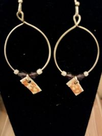 Auburn University Earrings in 4 different Styles. These can Also be personalized for your favorite college or pro football team. $8.50