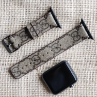 Handmade Apple Watch Band Re-Purposed GG Monogram for Apple Watch Series 1, 2, 3, 4, 5 $125.00