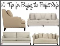 Tips for buying the perfect sofa.
