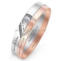 Promise Couple Bracelets with Names Engraved https://www.gullei.com/promise-couple-bracelets-with-names-engraved.html