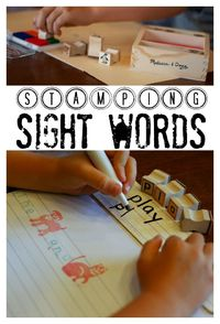 Stamping Sight Words: Some might say sight words are the building blocks to reading and writing.