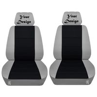 Two Front Seat Covers Fits a Toyota Corolla with Your Design Embroidered Side Airbag Friendly $79.99