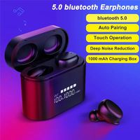 Wireless Dual bluetooth 5.0 TWS Earbuds Smart Touch Hifi Waterproof Earphone Headphone With Portable 1000mAh Charging Box