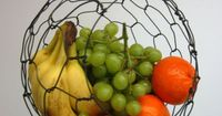 Oh! I like this - Hanging Sphere Fruit Basket for $39 from Etsy. #kitchen #wire #fruit