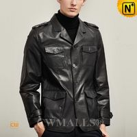 Custom Leather Jackets   CWMALLS® Men Leather Blazers CW808020[Personal Tailor, Father's Day Gifts]