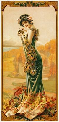 Tender Temptation by Gaspar Camps 1904 France - Beautiful Vintage Poster Reproductions. This french turn of the century poster features a yo...