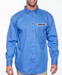 Men's Long-Sleeve Twill Shirt with Stain-Release by ALNBRANDS $35