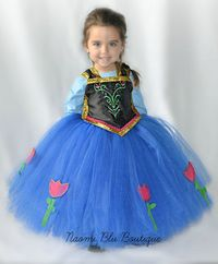 Disney Inspired Frozen Princess Anna Tutu Dress. Great by NaomiBlu, $60.00 Tutu dress, costume, frozen birthday party, Disney