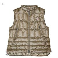 Moncler Mens Outdoor Sports Vest Clairy Dowe Sleeveless In Brown