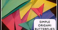 The Chocolate Muffin Tree: Simple Origami Butterflies Revisited
