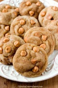 Soft and Chewy Butterscotch Snickerdoodles - cinnamon and butterscotch are paired perfectly in these soft and chewy snickerdoodles! That's one amazing cookie!