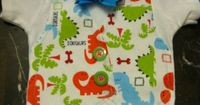 Dinosaur Baby Onesie Vest with Bow Tie by LadyKsBoutique on Etsy, $21.95