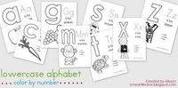 New Free Printable: Entire Set of Lowercase Alphabet Color by Number Pages