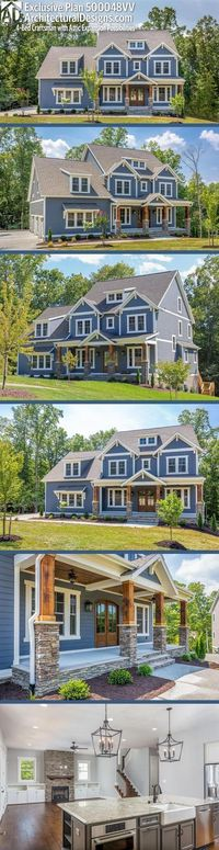 Architectural Designs Exclusive Craftsman House Plan 500048VV has 4+ beds | 3.5+ baths | 3,400+ square feet of heated living space. Ready when you are. Where do YOU want to build? #500048VV #adhouseplans #architecturaldesigns #houseplan #architecture #new...