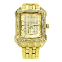 Men's 18k Gold plated iced out hip hop Bling Watch w16 £32.95