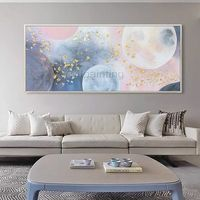 Acrylic painting Abstract Gold and pink moon Original painting on canvas extra large living room wall art pictures Decor cuadros abstractos $129.00
