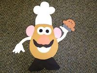 personalized Mr. Potatohead--possibly a community builder/ make your own door deck idea