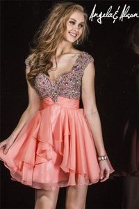 Angela and Alison 42022 Sparkly Beaded Short Dress for 2015