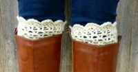 Crochet Boot Cuffs {free pattern}