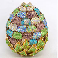 Newest Luxury Diamond Strawberry Evening Clutch Bag/ Hollow Out $154.05