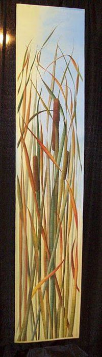 Sentinels fo Fall by Peggy Spitzer and Lori Olek #cattail #quilt