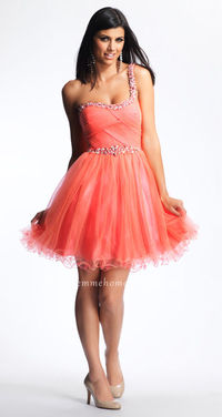 Tulle Mini Glittery Purple Short Homecoming Dress by Dave and Johnny 6906