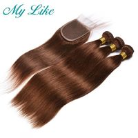 My Like Pre-colored t Human Hair Bundles with Closure $124.28