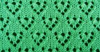 Lacy Heart Curtain stitch pattern