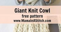�€œTwo Ways�€ Giant Knit Ribbed Cowl Free Knitting Pattern via