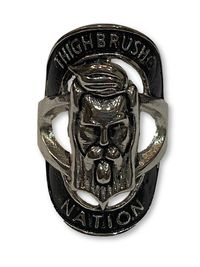 "THIGHBRUSH® ""THIGHBRUSH® NATION"" Ring - Silver"