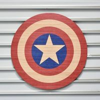 Captain America Shield - Printed Wood Wall Decor // American Made, Marvel Avengers, Steve Rogers, Agents of SHIELD, Wall Art, Infinity Wars $24.95