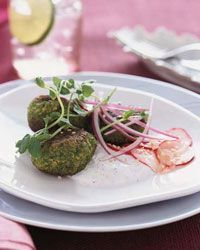 The Good News Instead of deep-frying the falafel patties, Nicki Reiss sautés them in a lightly oiled pan. And she serves them with a low-fat yogurt s...