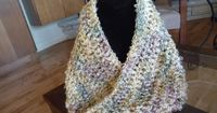 One hour Mobius & Infinity Cowl with instructional video on making continuous one piece cowl