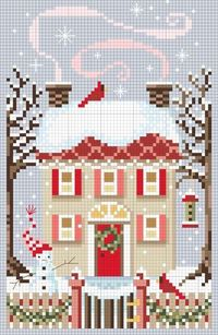 Christmas cross stitch ~ free pattern! This is a cute cross stitch. Some of them are kinda weird looking..