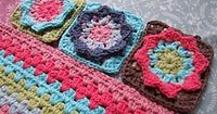 Star Flower granny square ~ free pattern �›�