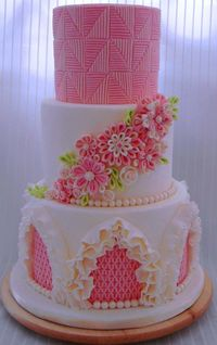 Just beautiful! Wedding cake and entirely edible