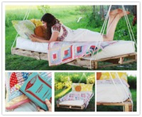 How to make lovely DIY pallet hanging swing bed