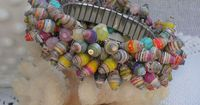 Cha-Cha Paper Bead Bracelet | Paper Beads & Jewelry
