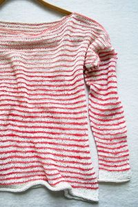 the purl bee striped summer shirt knitting pattern.
