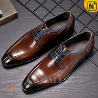 Custom Father's Day Gift | Men Retro Leather Cap Toe Oxford CW719012 | CWMALLS.COM
