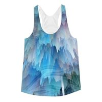 """Exclusively from And Above All YOGA --- """"Pink & Blue Explosion"""" Women's Racerback Tank Top for just $29.95 with FREE SHIPPING"""