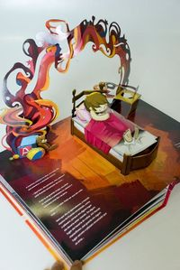 One day, I'll find the patience to make mine :) Pop-up Book The girl and the enchanted bird - Rubem Alves