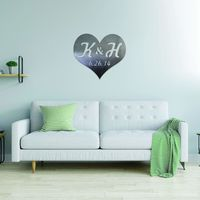 Personalized Heart Initials and Date Metal Wall Decor $68.99 �œ� Handcrafted in USA! �œ� Support American Artisans