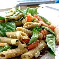 """Tomato Basil Pasta - """"""""This recipe is a simple, flavorful dish served at room temperature. Fantastic! This dish will refrigerate well, and is just as yummy the next day for lunch as a cold pasta salad!"""""""