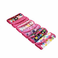 CLEARANCE Foldable Crochet Hooks Storage and Organising Fabric Bag. Different Style Pouches £5.69